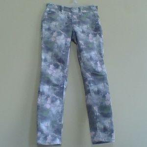 Pink Gray Green Splatter Justice Premium Jeans
